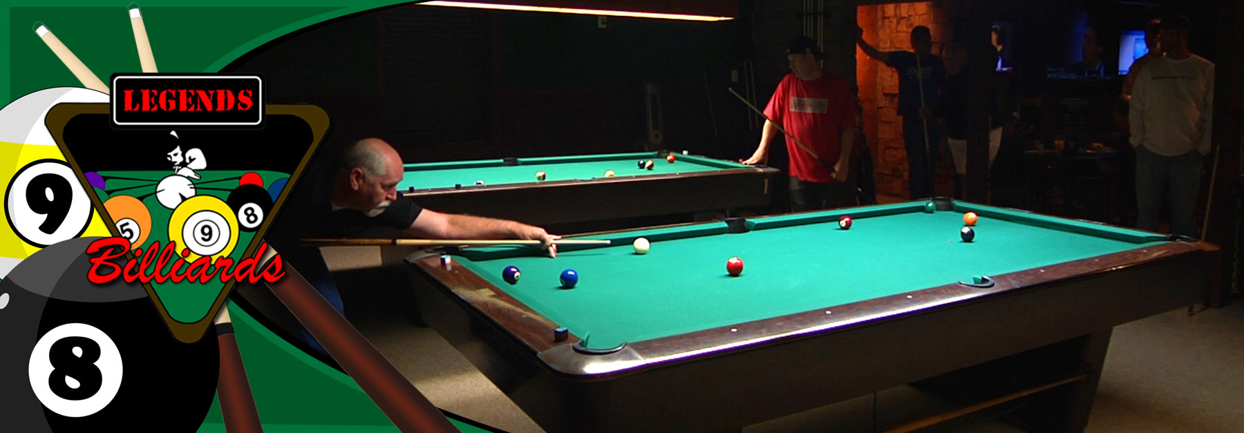 860 Simonis felt covered tables for the pro pool players and leagues