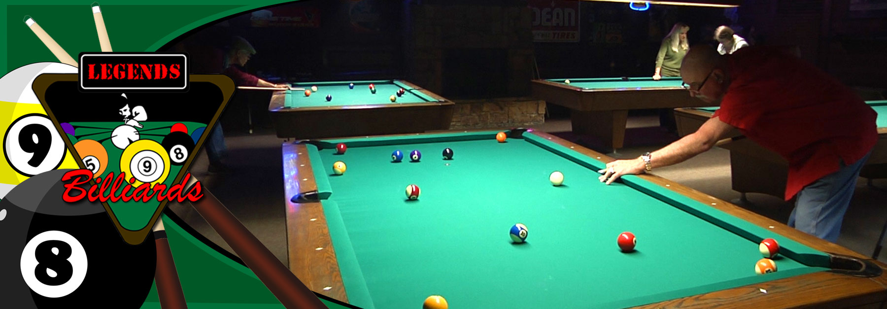 Pool Tournaments from all over Houston happnes at Legends